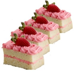 Strawberry Piece cakes- 6nos
