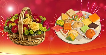 Diwali Flowers and Sweets